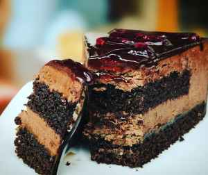blueberries cake chocolate chocolate cake