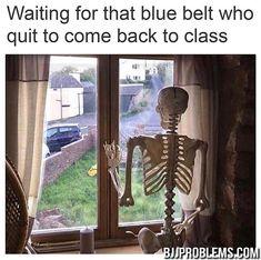 blue belt quit