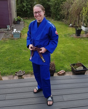 BJJ MInion Wearing Gi