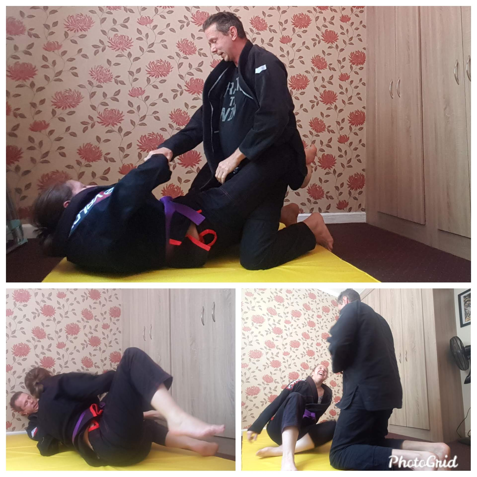 BJJ MInion Lockdown Drilling with Hubby