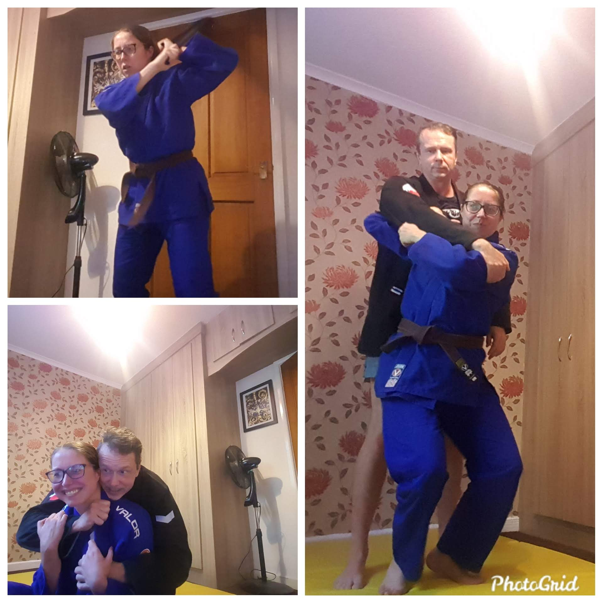 Various pics from judo sessions in lockdown