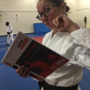BJJ Minion prepping for Judo Exam
